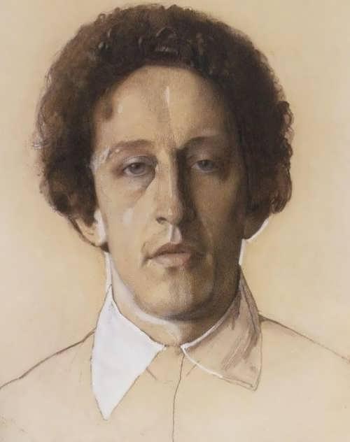 Portrait of Alexander Blok Konstantin Somov