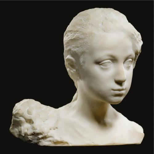 Marble bust of a girl Pavel Trubetskoy