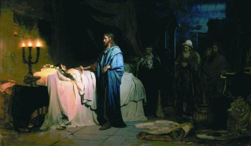 The resurrection of the daughter of Jairus Ilya Repin