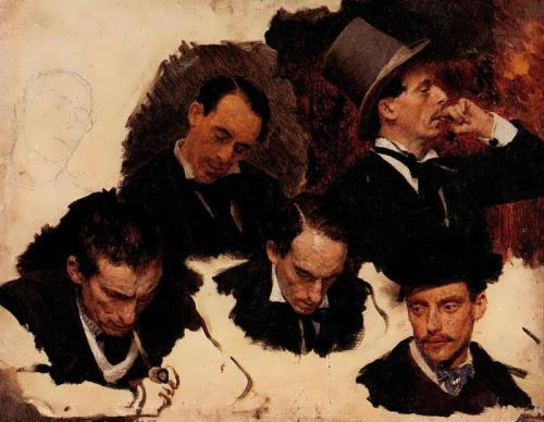 Men heads Ilya Repin