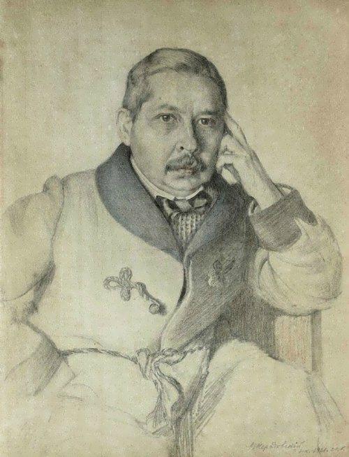 Peter Neradovsky. Portrait of Konstantin Somov