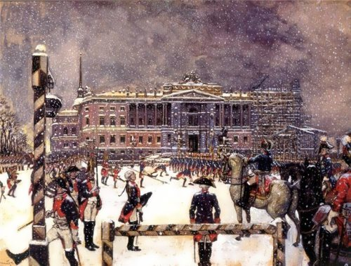 A Parade Under Paul I Alexander Benois