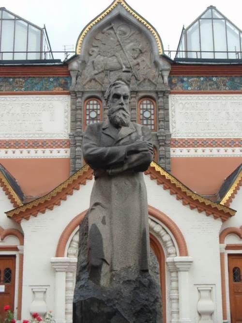 Monument to Pavel Tretyakov the Tretyakov Gallery
