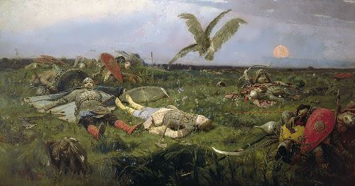 After the Battle of Igor Svyatoslavich with the Polovtsi Viktor Vasnetsov
