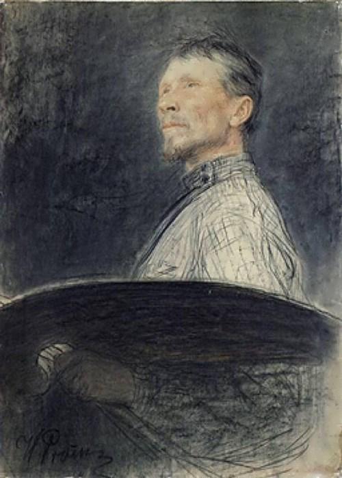 I. Repin. Portrait of A. Arkhipov