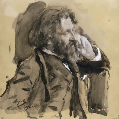 V. Serov Portrait of Repin