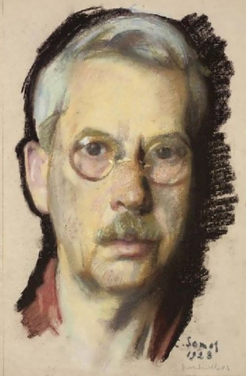 Self-portrait in the pince-nez Konstantin Somov