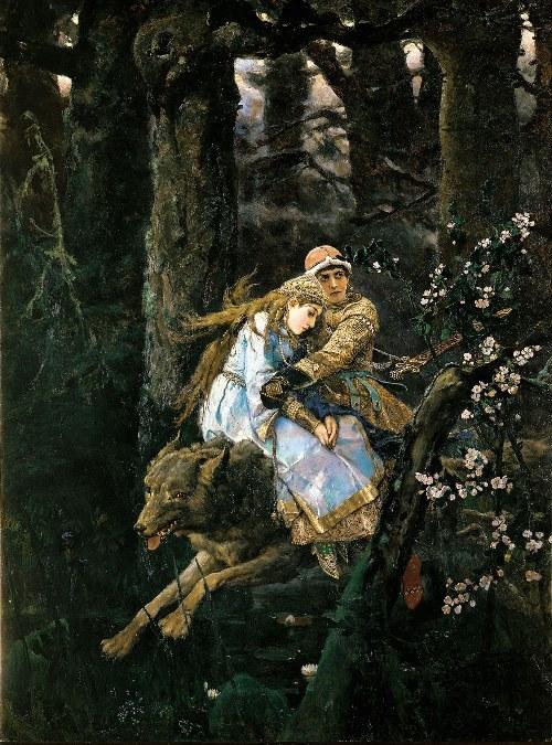 Tsarevich Ivan on a Grey Wolf Viktor Vasnetsov