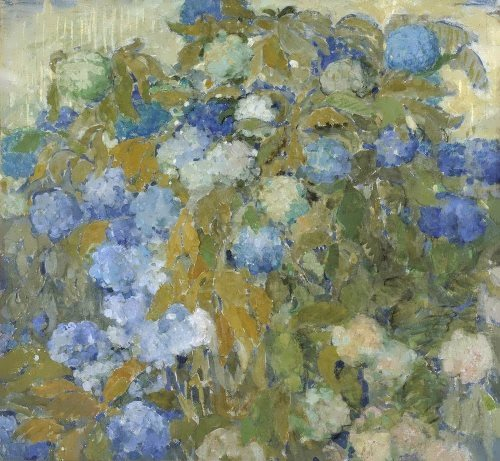 Blue hydrangeas Nikolai Sapunov