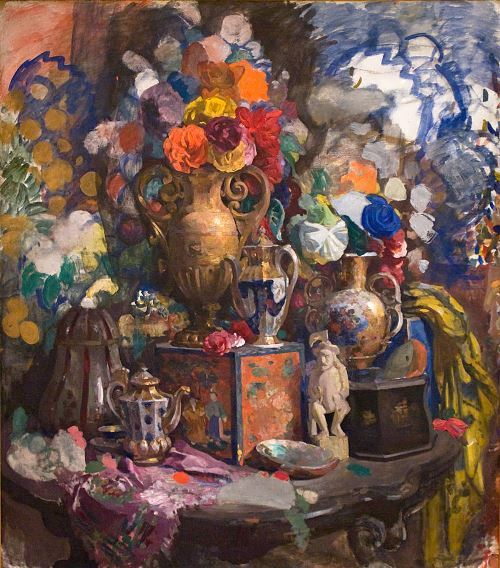 Flowers and porcelain Nikolai Sapunov