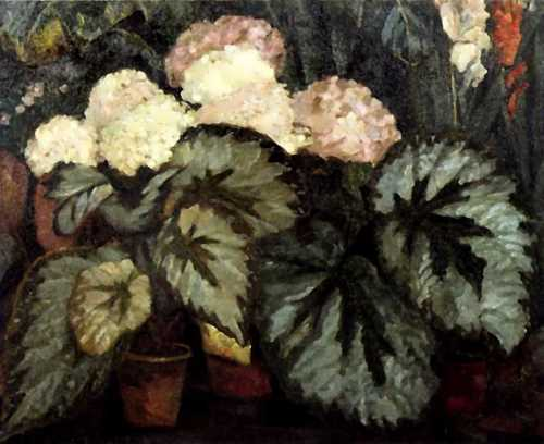 Still life with hydrangeas Nikolai Sapunov