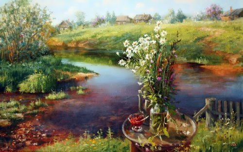 Russian landscape by V. Zhdanov