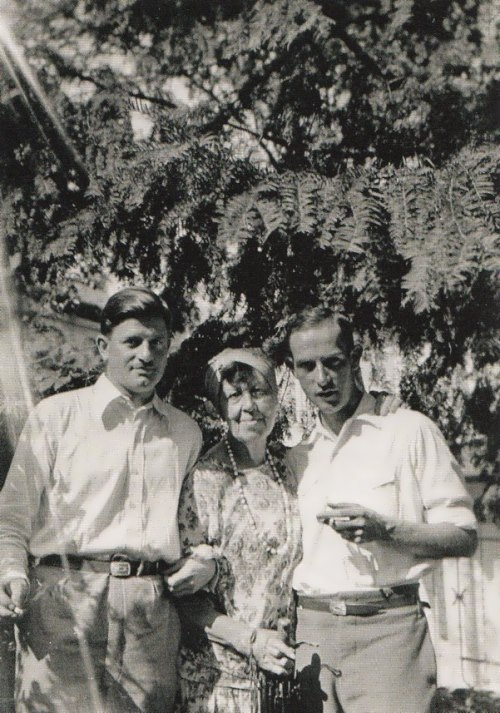 Marianna, Dr. Paul Jenny and Fritz Stocly, 1930