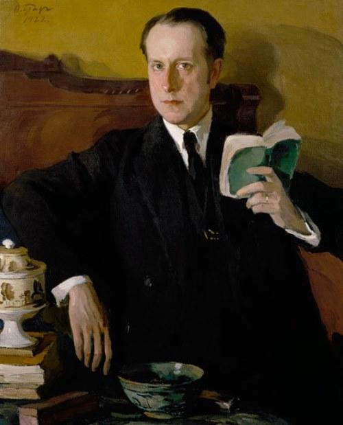 Osip Braz. Portrait of M.V. Dobuzhinsky