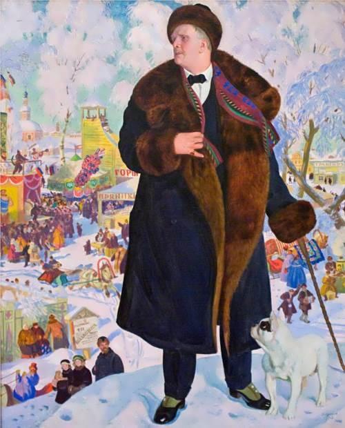 Portrait of Fedor Chaliapin Boris Kustodiev