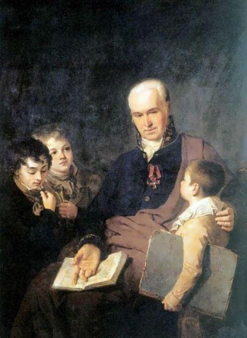 Portrait of Cyril Golovachevsky Alexei Venetsianov