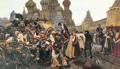 The Morning of the Streltsis Execution Vasily Surikov