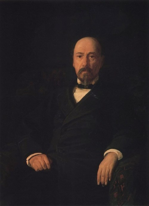 Portrait of the poet Nekrasov Nikolai Ghe