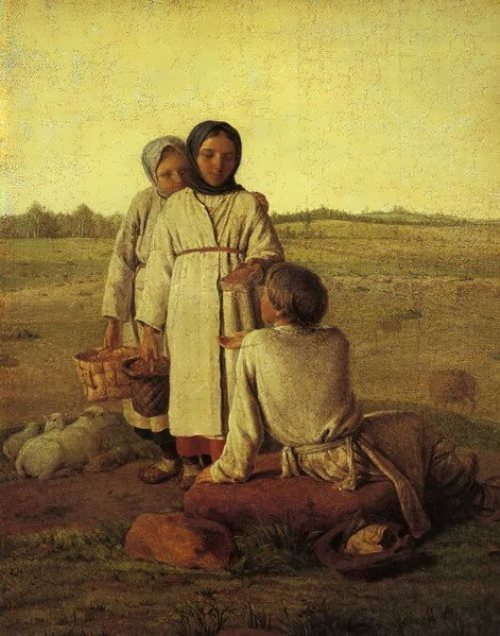 Peasant Children in the Field Alexei Venetsianov