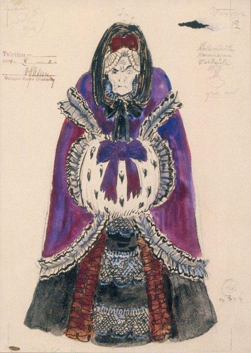 Costume design for the opera The Queen of Spades Mstislav Dobuzhinsky