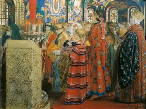 Seventeenth-Century Russian Women in Church Andrei Ryabushkin
