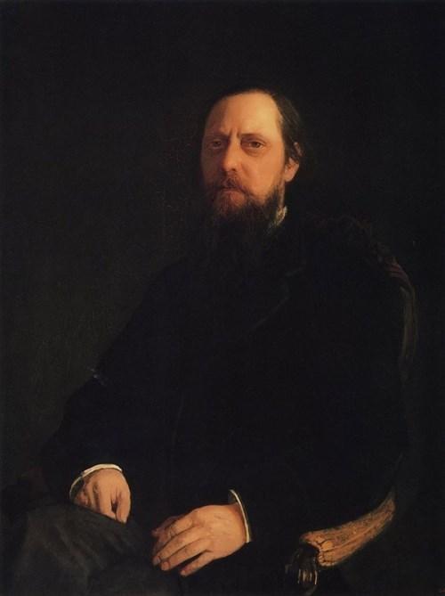 Portrait of Mikhail Saltykov-Shchedrin Nikolai Ghe