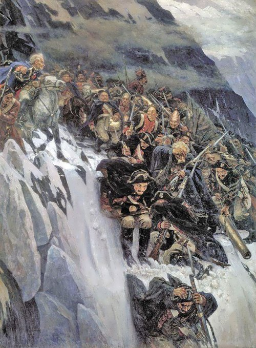 Suvorov Crossing the Alps Vasily Surikov