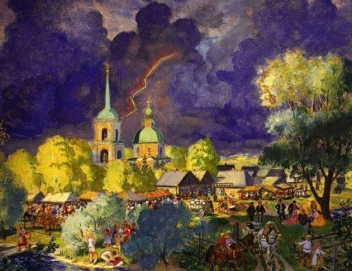 Thunderstorm Boris Kustodiev