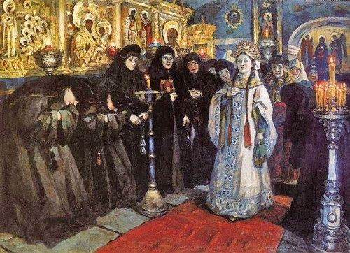 The Tsarevna Visits a Nunnery Vasily Surikov