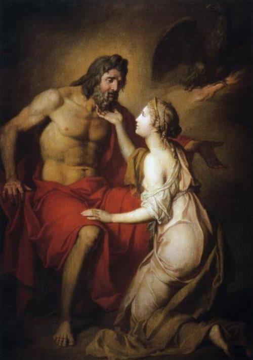Zeus and Thephia Anton Losenko