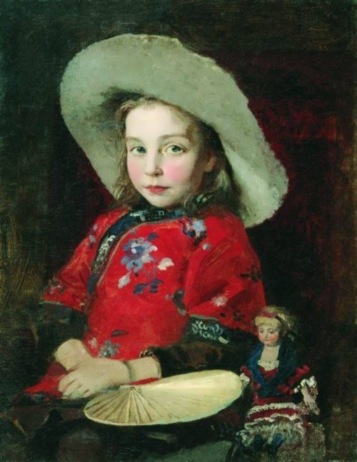 The girl with a doll Andrei Ryabushkin