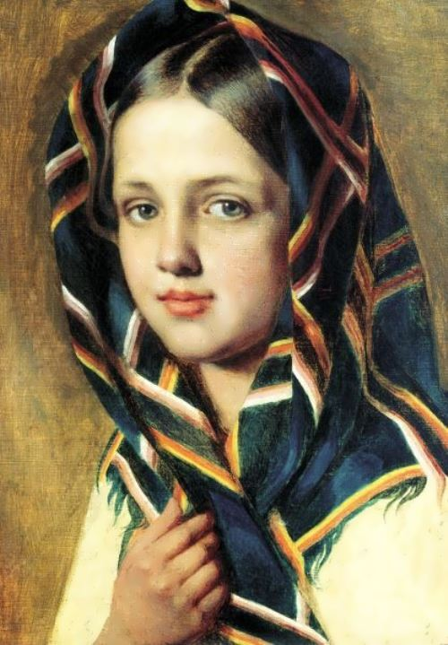 A girl with the shawl Alexei Venetsianov