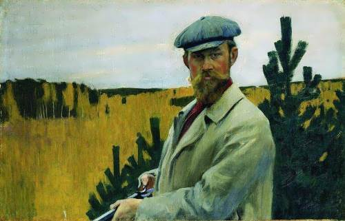 Kustodiev Self-Portrait In hunting