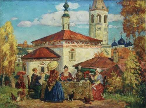 old Suzdal Boris Kustodiev