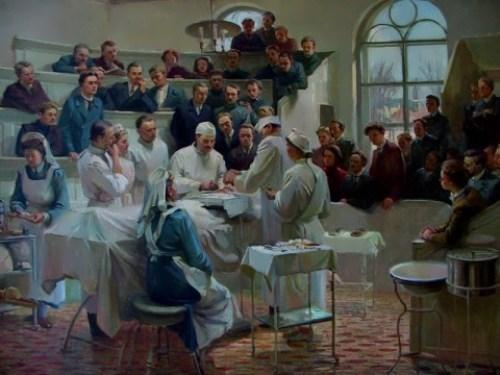 Operation in Pirogov hospital