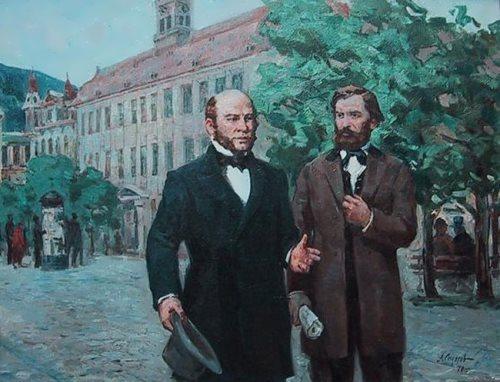 A. Sidorov. N. Pirogov and K. Ushinskiy in Heidelberg