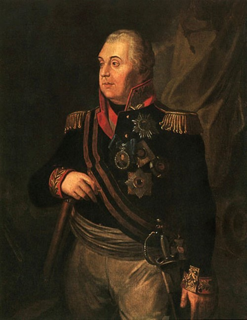 Last lifetime portrait of Kutuzov, depicted with a ribbon of the Order of St. George