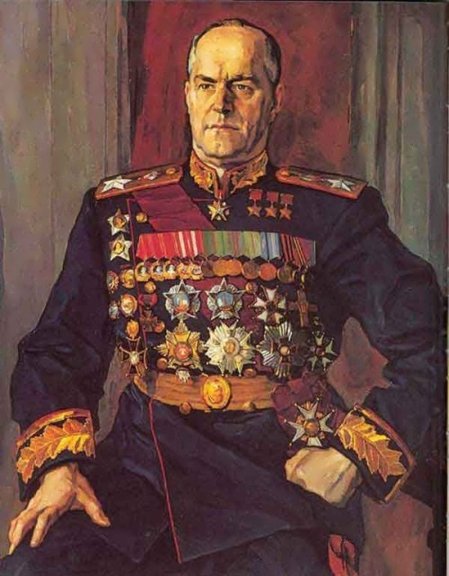 Marshal Zhukov. The artist Korin