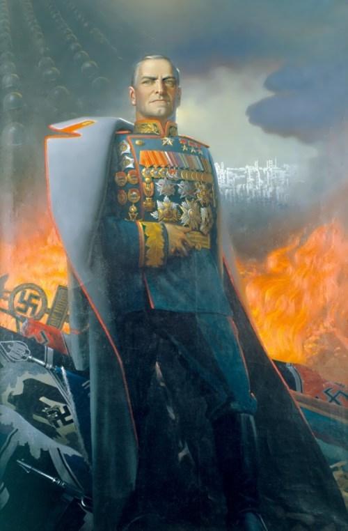Zhukov. Artist Konstantin Vasiliev