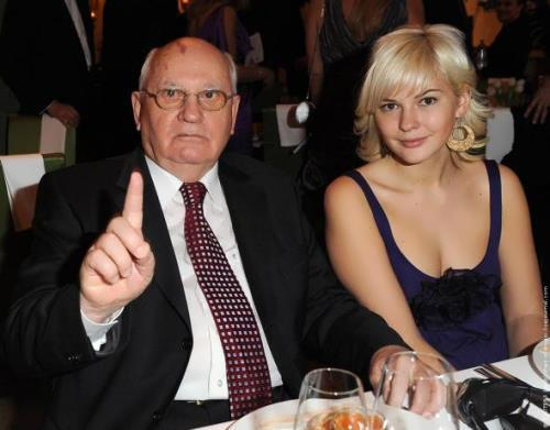 Gorbachev and his granddaughter Anastasia