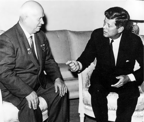 N.S. Khrushchev and US President John F. Kennedy in 1961