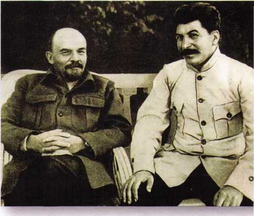 Lenin and Stalin in Gorki, 1923