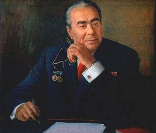 A. Shilov. Portrait of L.I. Brezhnev