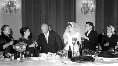 Wedding of cosmonauts Valentina Tereshkova and Andrian Nikolayev in 1963
