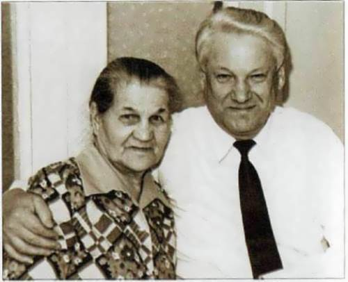Yeltsin and his mother