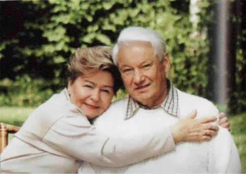 Yeltsin and his wife