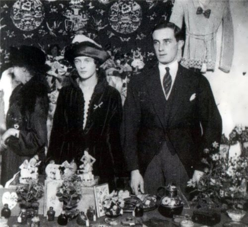 Prince and Princess Yusupova during a charity bazaar