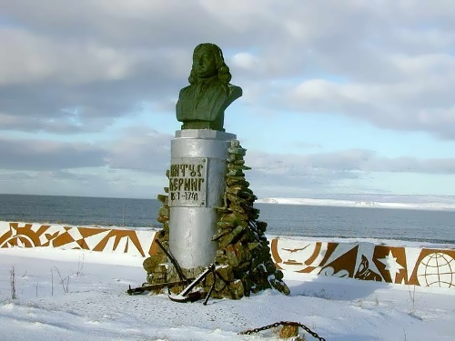 Monument to Bering in Kamchatka