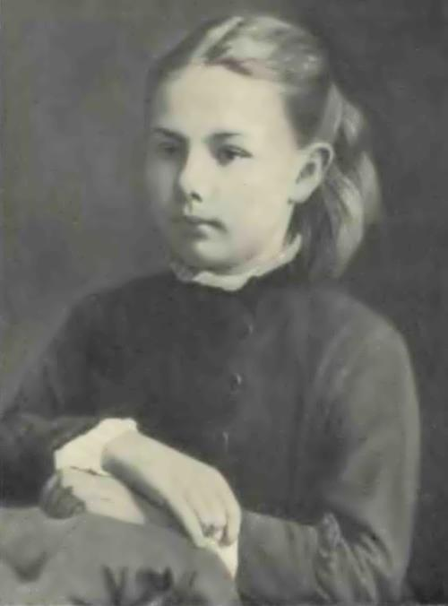 Krupskaya in her childhood