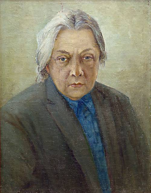 Portrait of N. Krupskaya